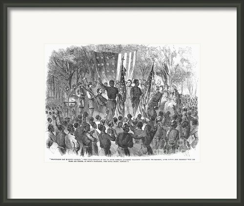 Emancipation, 1863 Framed Print By Granger