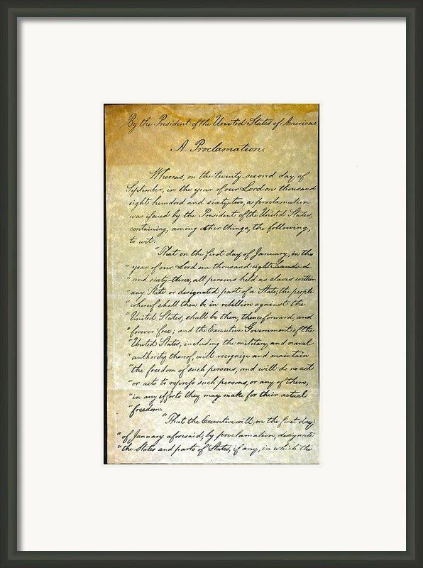 Emancipation Proc., P. 1 Framed Print By Granger