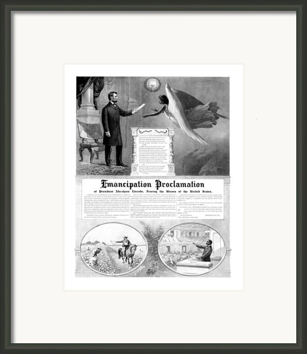 Emancipation Proclamation Framed Print By War Is Hell Store