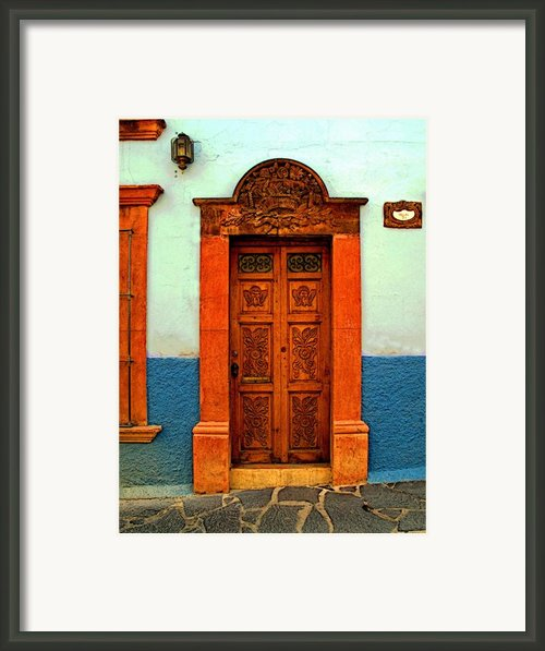 Embellished Puerta Framed Print By Olden Mexico