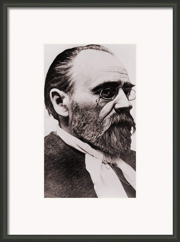 Emile Zola 1840-1902, French Novelist Framed Print By Everett