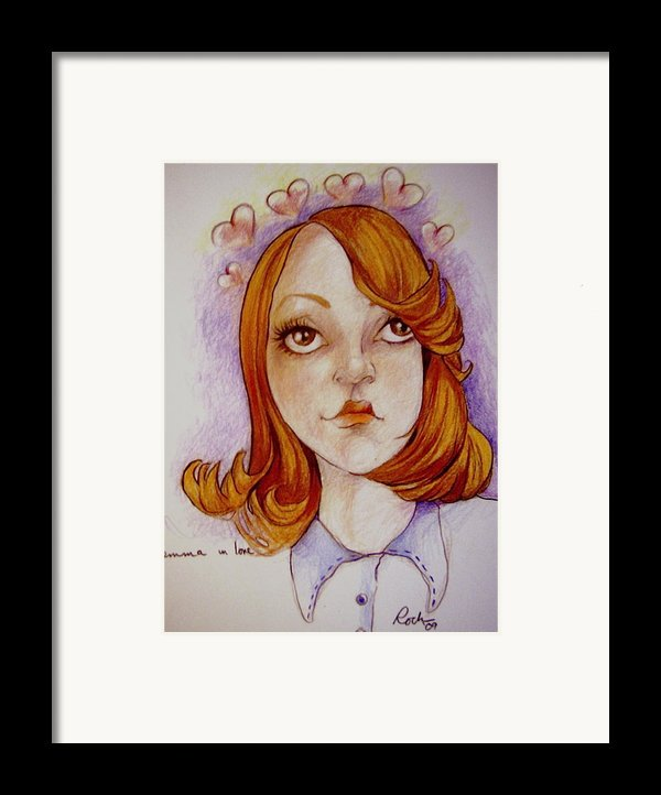 Emma In Love Framed Print By Jackie Rock