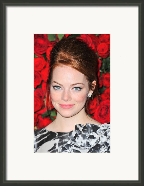 Emma Stone At Arrivals For Momas 4th Framed Print By Everett