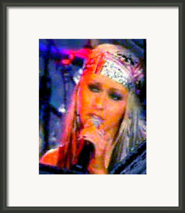 Emotional Christina Framed Print By Navo Art