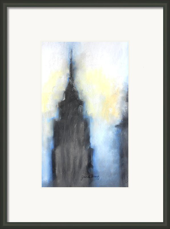 Empire State Building In Pastels Framed Print By Janel Bragg