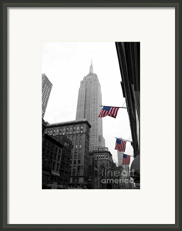 Empire State Building In The Mist Framed Print By John Farnan
