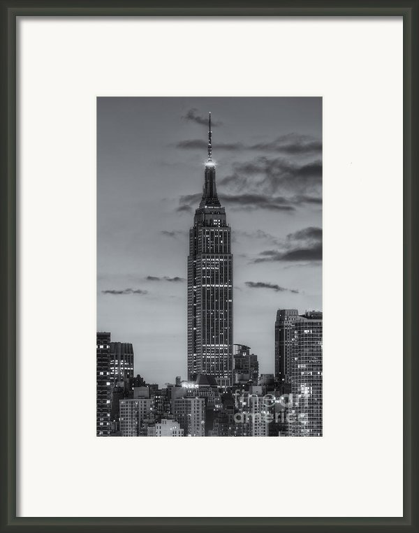 Empire State Building Morning Twilight Iv Framed Print By Clarence Holmes