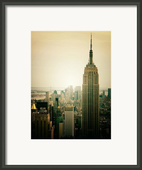 Empire State Building New York Cityscape Framed Print By Vivienne Gucwa