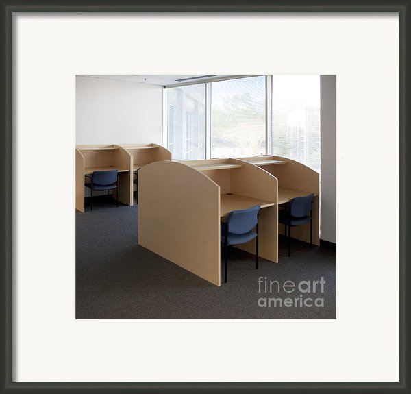 Empty Carrels Framed Print By Will & Deni Mcintyre