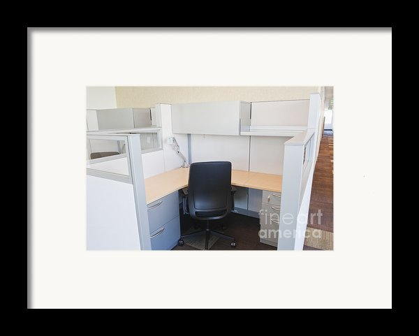 Empty Office Cubicle Framed Print By Jetta Productions, Inc