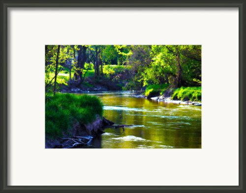 Enchanted River Framed Print By Rebecca Frank