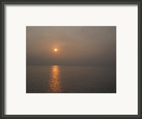 End Of Day Framed Print By