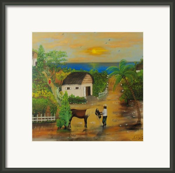 End Of The Day Framed Print By Nicole Jean-louis