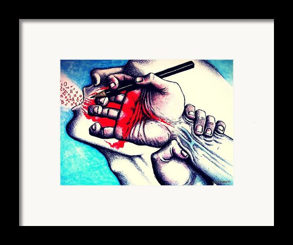 Endless Ideas They Pour Through My Fingers Framed Print By Paulo Zerbato