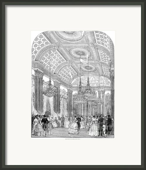 England - Royal Ball 1848 Framed Print By Granger
