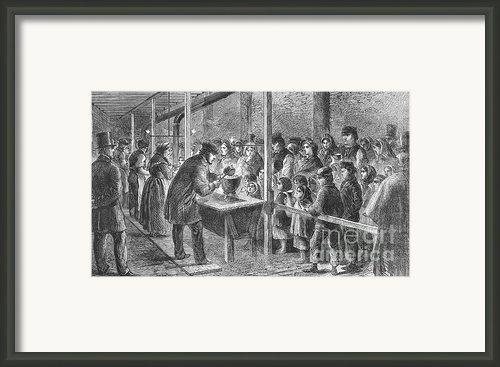 England: Soup Kitchen, 1862 Framed Print By Granger