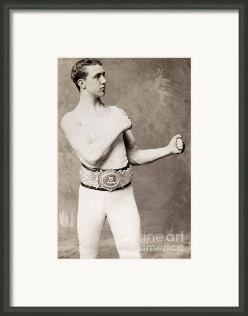 English Boxer, C1883 Framed Print By Granger