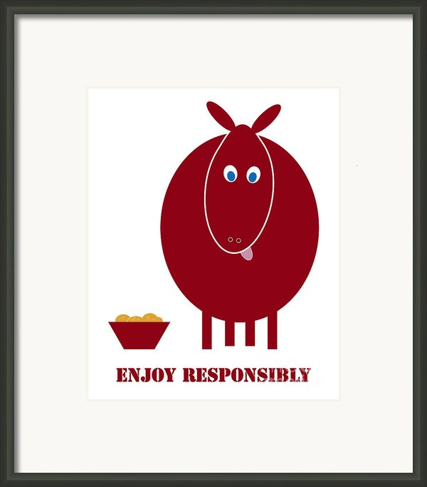 Enjoy Responsibly Framed Print By Frank Tschakert