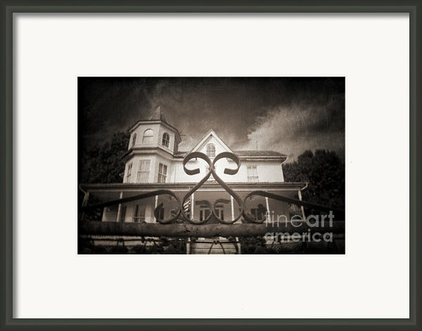 Enter If You Dare Framed Print By Jane Brack
