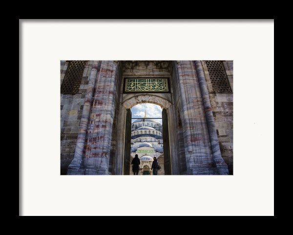 Enter Framed Print By Joan Carroll