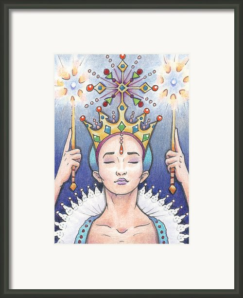 Enter The Frost Queen Framed Print By Amy S Turner
