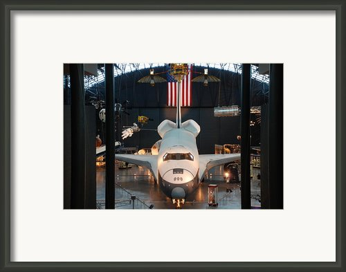 Enterprise Space Shuttle Framed Print By Renee Holder