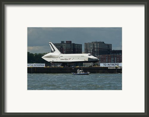 Enterprise To Intrepid Framed Print By Gary Eason