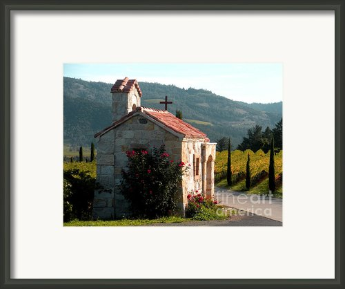 Entrance To Amorosa Framed Print By Gail Salituri