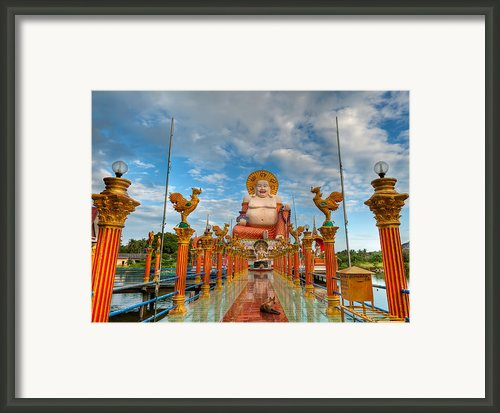 Entrance To Buddha Framed Print By Adrian Evans