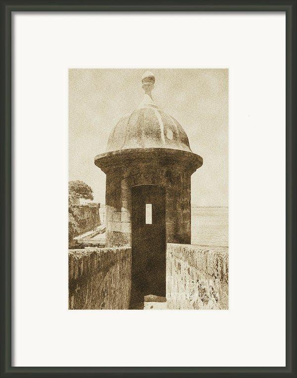 Entrance To Sentry Tower Castillo San Felipe Del Morro Fortress San Juan Puerto Rico Vintage Framed Print By Shawn Obrien