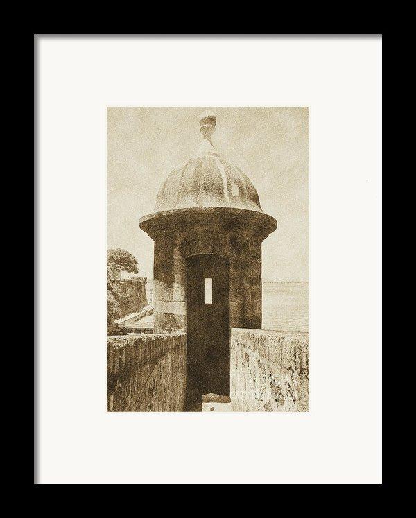 Entrance To Sentry Tower Castillo San Felipe Del Morro Fortress San Juan Puerto Rico Vintage Framed Print By Shawn O