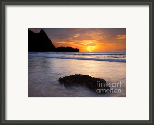 Enveloped By The Tides Framed Print By Mike  Dawson