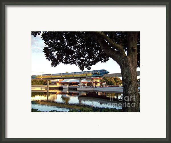 Epcot Tron Monorail Framed Print By Carol  Bradley - Double B Photography