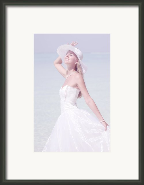 Ephemeral Moment.  Lady Elegance Framed Print By Jenny Rainbow