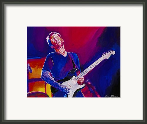 Eric Clapton - Crossroads Framed Print By David Lloyd Glover