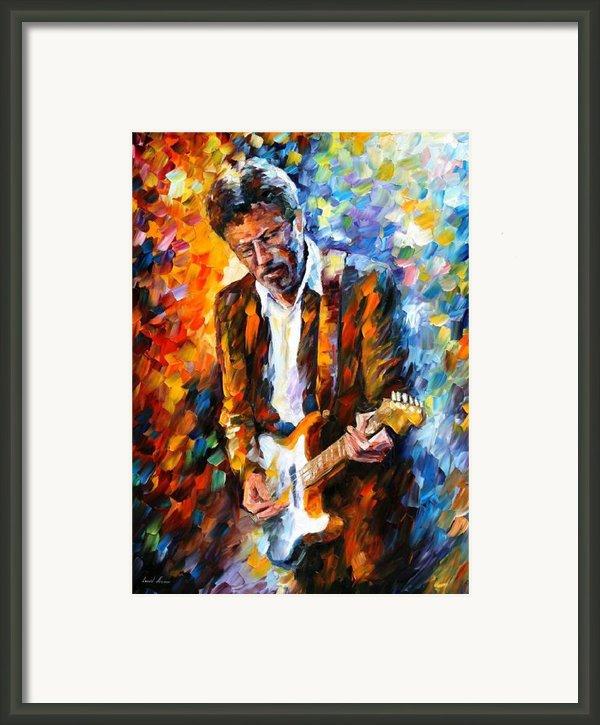 Eric Clapton Framed Print By Leonid Afremov