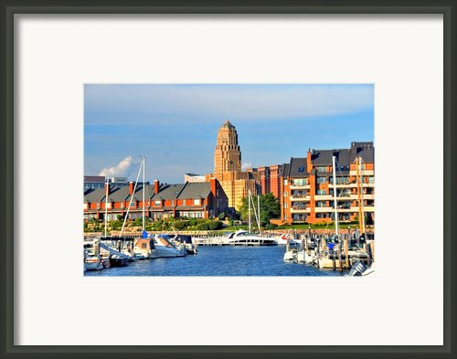 Erie Basin Marina Framed Print By Kathleen Struckle