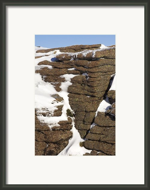 Eroded Granite Framed Print By Duncan Shaw