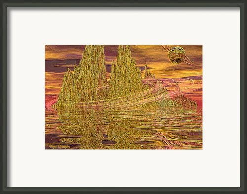 Eroding Gold Framed Print By Wayne Bonney