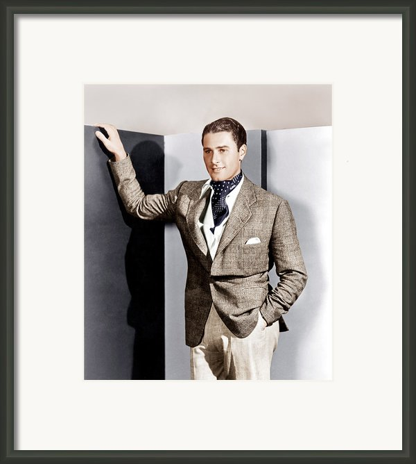 Errol Flynn, Ca. 1930s Framed Print By Everett