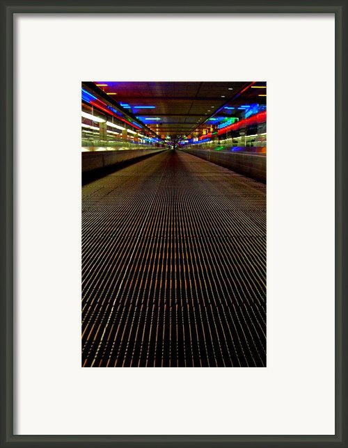 Escalator View ... Framed Print By Juergen Weiss
