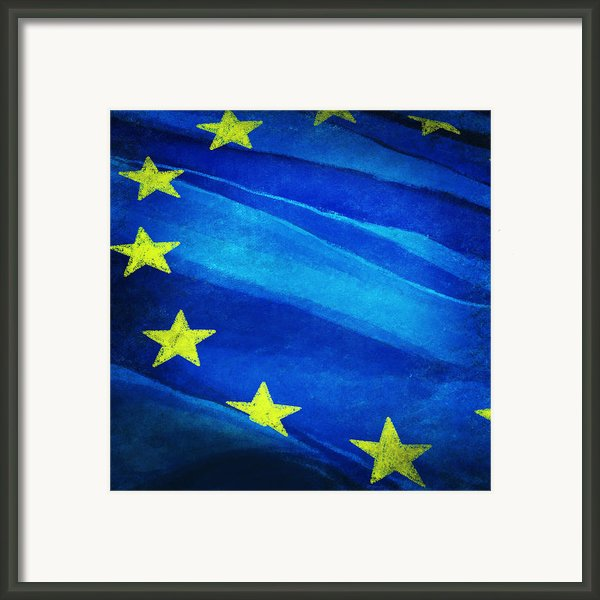 European Flag Framed Print By Setsiri Silapasuwanchai