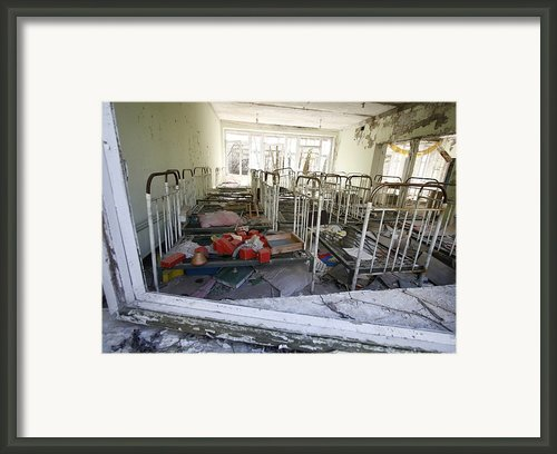 Evacuated Kindergarten Near Chernobyl Framed Print By Ria Novosti