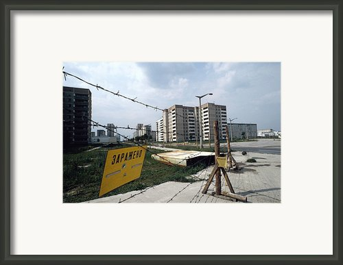 Evacuated Town Near Chernobyl, Ukraine Framed Print By Ria Novosti