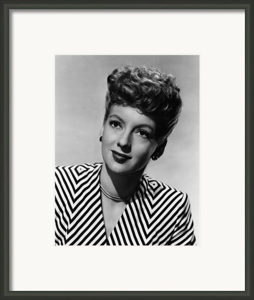 Evelyn Keyes, Ca. Late 1940s Framed Print By Everett