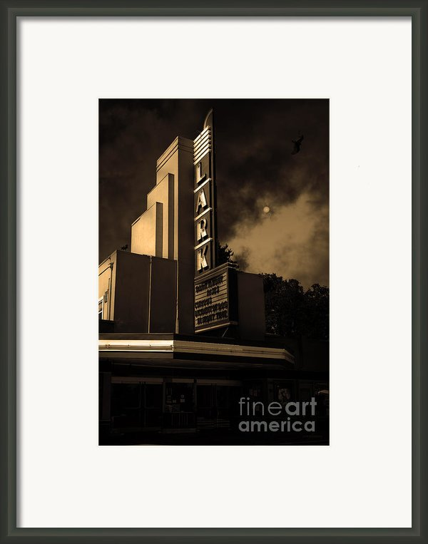 Evening At The Lark - Larkspur California - 5d18484 - Sepia Framed Print By Wingsdomain Art And Photography