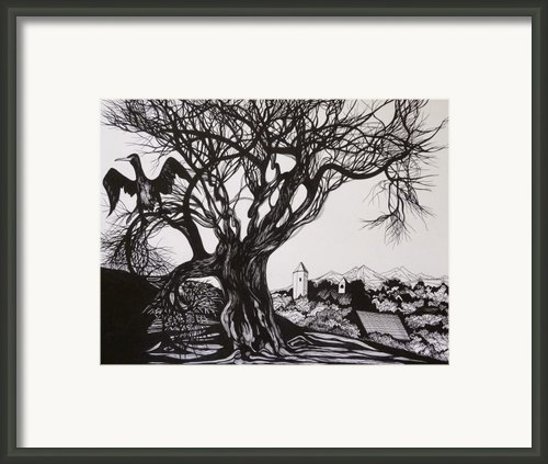 Evening In Midnapore Framed Print By Anna  Duyunova
