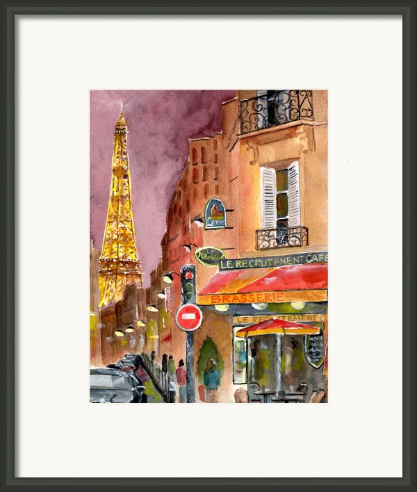 Evening In Paris Framed Print By Sheryl Heatherly Hawkins