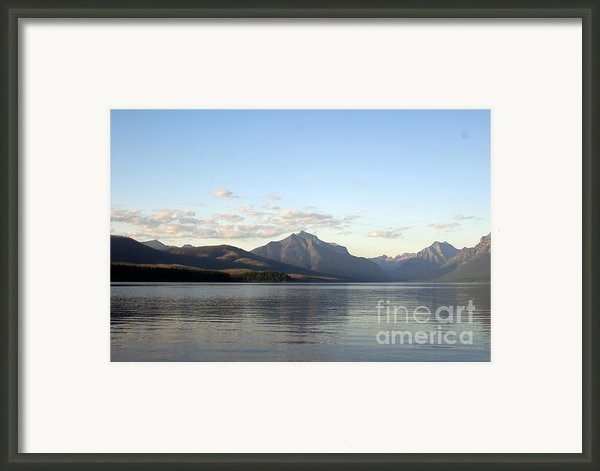Evening On Lake Mcdonald Framed Print By Marty Koch