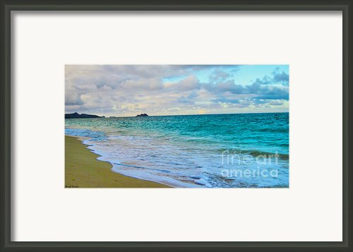 Evening On The Beach Framed Print By Cheryl Young